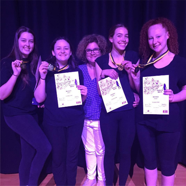 Drama students take out gold in AHIGS Festival of Speech
