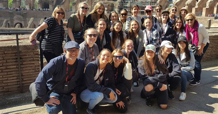 History Tour group in Rome Day 3